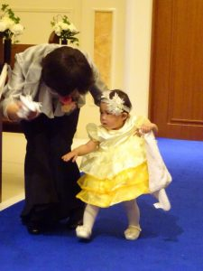 子連れ結婚式での演出のリングガール