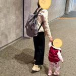 ママにおすすめのニットワイドパンツ♪産後も楽々履きやすい!